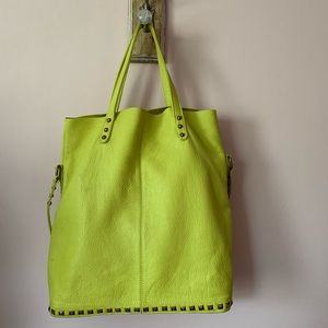 Elliott Lucca Yellow Leather Tote